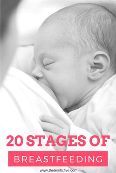 20 Stages of Breastfeeding (Illustrated through Friends GIFs). Breastfeeding is a journey, one full of love and pain. As the baby grows up the breastfeeding experience keeps changing. Click on the image to explore the different stages of breastfeeding! www.theterrificfive.com