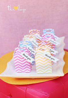 Chevron Cotton Candy MINI Gable Box Favors... Party Starters