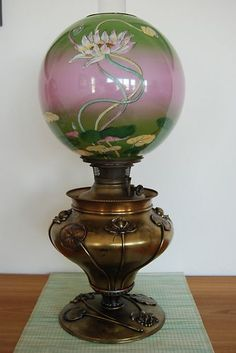 Antique Victorian GWTW Kerosene Oil Lamp | eBay