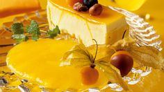 Foto: Alf Børjesson / frukt.no Sorbet, Cheesecake, Dairy, Food, Cheesecake Cake, Cheesecakes, Essen, Cheesecake Bars, Yemek