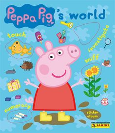 Panini have a bumper Peppa sticker book - including scratch & sniff ones!