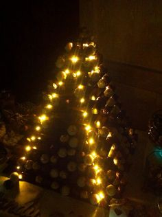 Ferrero rocher stand with lights