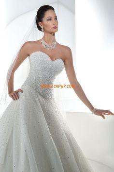 Elegante Crystal dettagliare Naturale Abiti Da Sposa 2014
