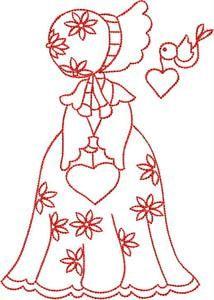 Valentine Sunbonnets #patchwork