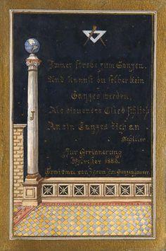 """Widmungs-Aquarell von Br(uder) Gunzenhauser """"Zur : Lot 1306"""