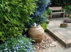 Gartenbrunnen Gestaltung-mediterran Pflanzgefäße Ton | Garten ... Pflanzgefase Im Garten Ideen Gestaltung