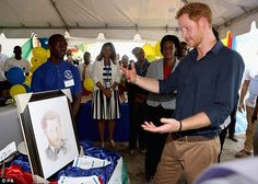 As Prince Harry spotted the illustration of him by artist Richie Modeste, 18, he immediate...