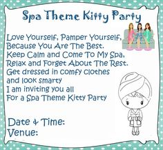 Kitty party invitation ideas for indian kitty party kitty party spa theme kitty party games and ideas spiritdancerdesigns Images