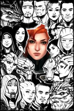 FemShep and the crew #MassEffect