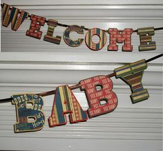 Welcome Baby  Cowboy Baby Shower Banner Letter by APaperPlayground, $10.00