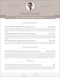 Modern Resume Template   110500 | Premium Line Of Resume U0026 Cover Letter  Templates. Edit
