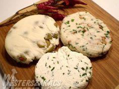 Házi sajt ízesítve recept Homemade Tables, Diy Food, Mashed Potatoes, Cheese, Ethnic Recipes, Desserts, Socks, Popular, Whipped Potatoes