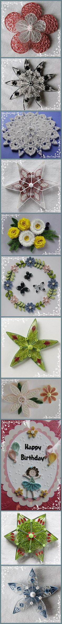 Paper art - making flowers idea