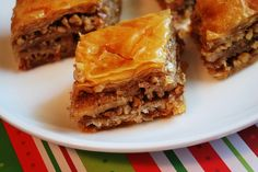 Baklava, made this in high school for a cultural thing. And its delicious