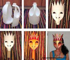 mascaras com material reciclado - Pesquisa Google