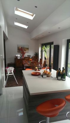 Rear extension in Rickmansworth creates a wonderful light kitchen dining room.
