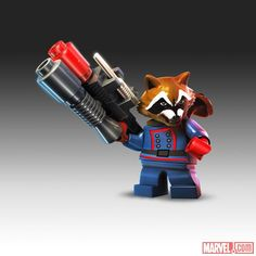 Rocket Raccoon in LEGO Marvel Super Heroes
