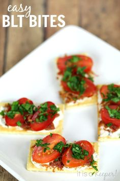 These easy BLT Bites are one of my favorite easy healthy snack ideas. The recipe is super simple!