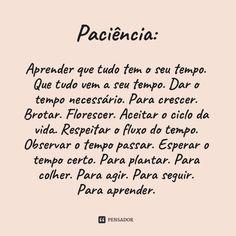 -  Paciência