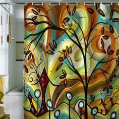 DENY Designs Madart Inc. Fall Colors Fabric Shower Curtain