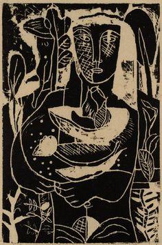 Edward Burra (1905-1976), 1929, Cupbearer, Woodcut.