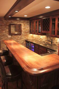 Most Popular Basement Flooring Ideas For Your Lovely Home - Bar Deko Ideen Best Flooring For Basement, Basement Bar Plans, Basement Bar Designs, Home Bar Designs, Basement Renovations, Home Remodeling, Basement Ideas, Small Basement Bars, Gray Basement