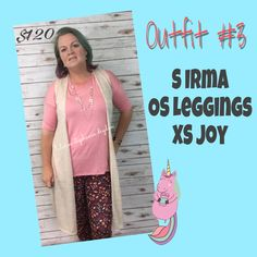 Irma, leggings, and a Joy vest a match made in heaven. LuLaRoe Irma, LuLaRoe Leggings, LuLaRoe Joy