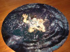 Ce tapis circulaire donne l'impression d'une mort certaine, d'un homme coincé sous la glace. Photo: M.-C. Perras Galerie D'art, Breakfast, Desserts, Circle Rug, Death, Ice, Impressionism, Morning Coffee, Deserts