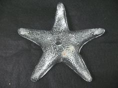 Blenko Hand Made Clear Glass Starfish by Modarts1 on Etsy