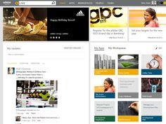 [Muro de actividad. Red Social Corporativa] - Game over for traditional intranet navigation | adidas Group blog