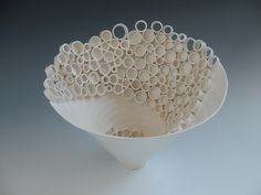 RingsCollective; Swirl.  Constructed in porcelain. Katherine Dube 2000-2012.