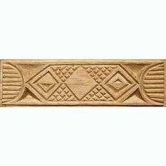 Oshiwa Carved Wood Printing Stamp, African Design, 8.25'' x 2.25'', Item 10-17-78. $27,75, via Etsy.