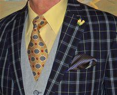 Ralph Lauren blazer, Tommy Hilfiger shirt, vintage tie, vintage bespoke vest …