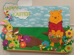 Winnie The Pooh Easter spring bulletin board