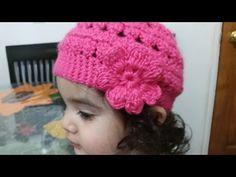 Como tejer Gorro en crochet para niñas - YouTube