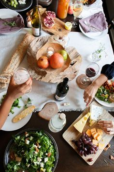 Tips for hosting an at home party with effortless elegance via julieblanner.com photographed by Alea Lovely