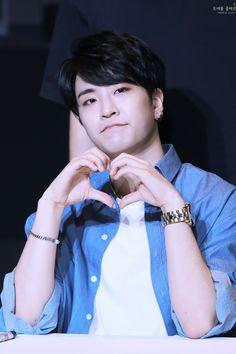 Heart to u too Youngjae (: