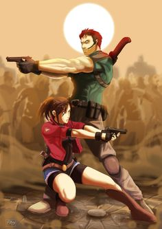 jill valentine y chris redfield amor