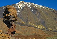 Teide or Pico del Teide is the highest mountain in Spain.  It is 12,198 ft (3,718 m) and it's the 40th most prominent peak with the same height.  Teide is located a volcano located on Tenerife in the Canary Islands.
