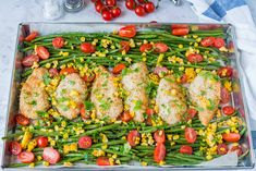 One Pan Crispy Chicken + Garlic Veggies for Clean Eating Made Easy! | Clean Food Crush