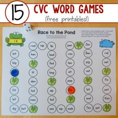 15 free CVC word games square image