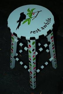 $2 thrift store bar stool