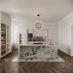 Marble Interior, Flat Interior, Apartment Interior Design, Luxury Kitchen Design, Interior Design Kitchen, Interior Design Inspiration, Home Decor Inspiration, Interior Ideas, Decor Ideas