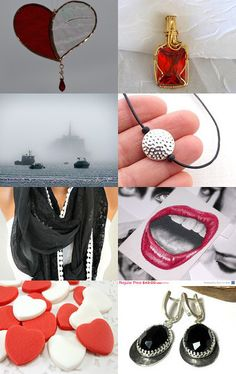Black and White and Red All Over by alison on Etsy--Pinned with TreasuryPin.com #etsycollecion #handmade #giftideas
