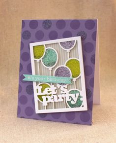 It's Your Birthday Shaker Card by Lizzie Jones for Papertrey Ink (January 2015)