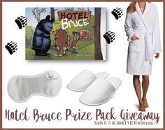 Welcome to the Howlin' for Giveaways Giveaway Hop! Check out this cozy Hotel Bruce Prize Pack we are giving away...