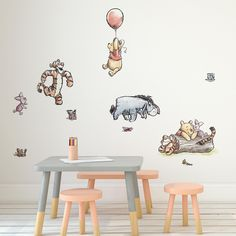 Featuring your favourite Disney Winnie the Pooh characters, these wall stickers are an ideal finishing touch for a kids bedroom or nursery. Easy to apply, the h. Disney Baby Rooms, Disney Baby Nurseries, Disney Bedrooms, Disney Nursery, Disney Babies, Nursery Wall Stickers, Nursery Wall Decor, Baby Room Decor, Disney Wall Stickers