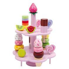 Base Toys snoepgoed op een standaard