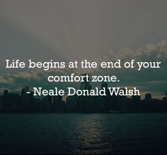 """""""Life begins at the end of your comfort zone. Comfort Zone, Mondays, Monday Motivation, Picture Video, Evolution, Inspirational Quotes, Reading, Life, Inspired"""