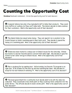 Worksheets Opportunity Cost Worksheet opportunity cost worksheets sharebrowse delibertad